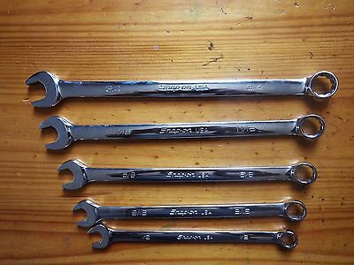 Snap On FlankDrive plus Extra Long Combination Wrench/ Spanner set 1/2- 3/4 mint