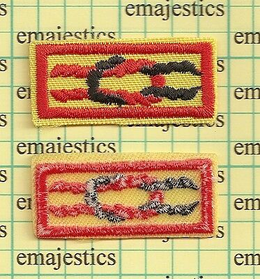 Bsa Tiger Cub Award Square Knot Patch Real Mint Clear Plastic Back