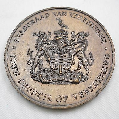 Bronze medal commemorating 50th Anniversary of Union of South Africa, 1910-1960