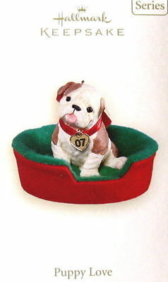 2007 Hallmark Puppy Love #17 In Series Ornament New In Box No Reserve