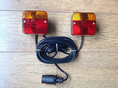Magnetic Trailer Towing Lightboard Lights Rear Tail Lamps 4.5m Cable Trailer