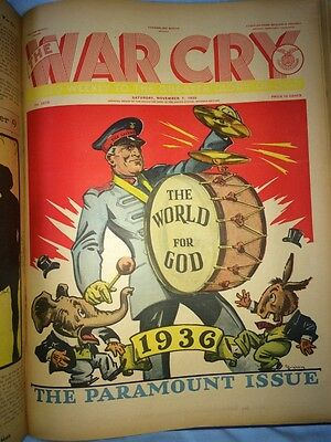 1936 Salvation Army - THE WAR CRY - 52 issues Fantastic Graphic Art