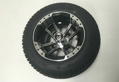 "10"" Golf Car Alloy Mag Wheels / Tyres.  Replace Standard 8"" With No Adjustment."