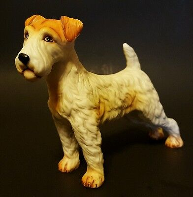 *vintage* Porcelain Wire Hair Fox Terrier Figurine - Mint Condition!!!!