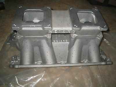 NOS Boss 429 Weiand 5990 intake manifold with Weiand 1915 Dual Quad Top