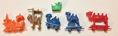 R&l 1969 Cereal Toys ~ Camel Train ~ Lot Of Five Camels + Extra ~ Kellogg's