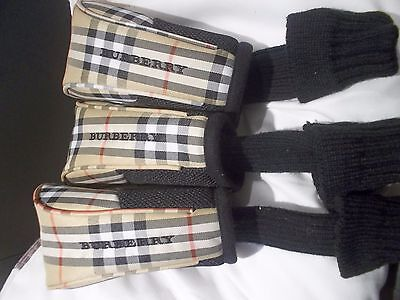 Golf Club Head Covers Set Of 3 Burberry- Numbers 1, 3, X