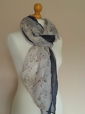 Puppy Dog Scarf Shawl Wrap Great Gift for Dog Lover FREE P&P