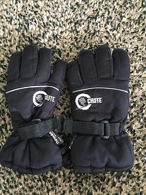 Kids Chute Thinsulate 40 GSM Ski Snow Gloves Size Small *as New*