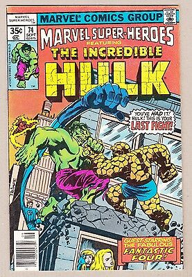 Incredible Hulk #122 in Marvel SuperHeroes #74 Classic Fight Mark Jewlers Insert