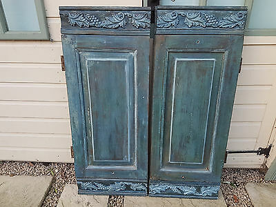 Vintage/Antique French Shutters adapted for wall fixing/decoration only