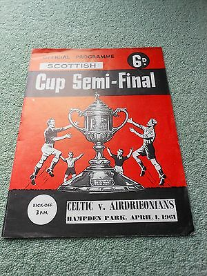 Celtic v Airdrieonians 1/4/61 1961 Scottish Cup Semi-Final
