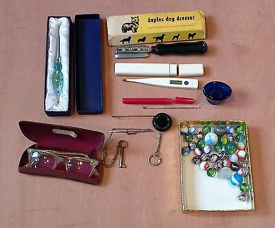 Job lot interesting vintage antiques curios collectables