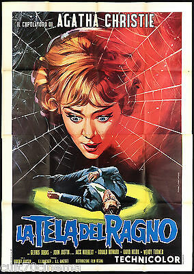 La Tela Del Ragno Manifesto Cinema Thriller Usa The Spider's Web Movie Poster 4F