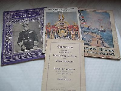 Collection of paper Ephemera Relating To The Coronation of King George 6th 1930s