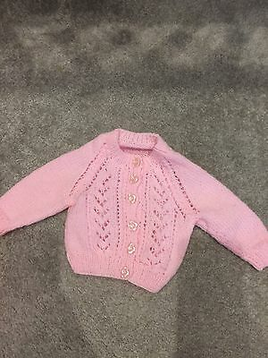 NEW Homemade Baby Cardigan 0-3 Months