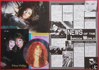 Kylie Minogue Mariah Carey Wilson Phillips 1993 CLIPPINGS JAPAN IR 1A 2PAGE