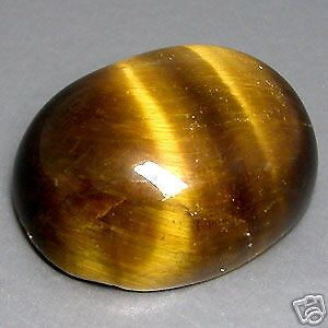 LARGE 16x12mm OVAL CABOCHON-CUT NATURAL AFRICAN GOLDEN TIGERS-EYE GEM £1 NR!