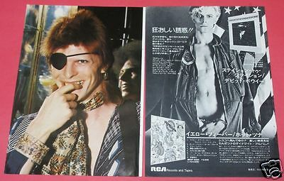 DAVID BOWIE Station to Station ALBUM AD 1976 CLIPPING JAPAN MAGAZINE OS 3A 2PAGE