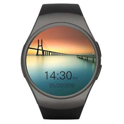 Black KW18 BT Smart Wrist Watch SIM GSM Phone Mate Heart Rate For IOS Android#1