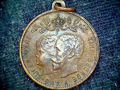 Great Britain King George V Queen Mary Memorial Medalion, No Date