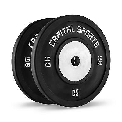 Capital Sports Stossresistenter Aluminiumkern Weight-Drops 50Mm Set 2X15Kg