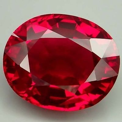 LARGE 16.5x14.5mm OVAL-FACET HOT-RED NATURAL BRAZILIAN TOPAZ GEMSTONE (£2,063)