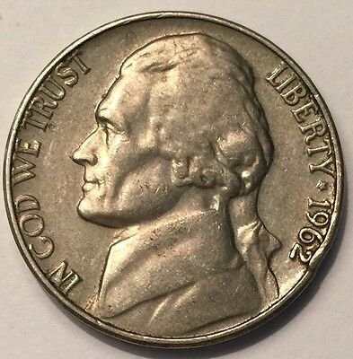 1962 U.S.A Jefferson Nickel 5 Cents coin