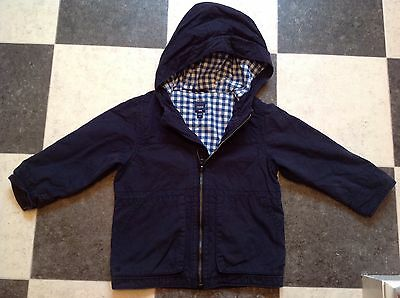 Baby GAP Boys Navy Lightweight Coat Size 3T Used Good Condition