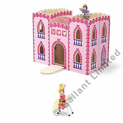 Foldable Large Wooden Princess Palace Dollhouse Big Castle With Play Dolls Toy