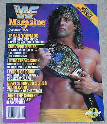 Wwf Magazine December 1990 Wrestling Texas Tornado Cover Wwe Ultimate Warrior