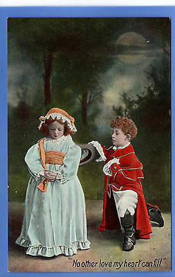Vintage Wildt & Kray Postcard Young Boy & Girl No Other Love My Heart Can Fill