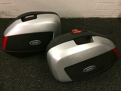 Givi PLX446 Zzr1400 Mono key Panniers  Side Boxes Luggage Box Silver Cases V35