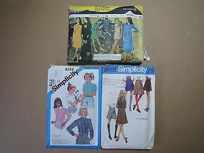 Lot of 3 MISSES OUTFIT PATTERNS (1970/80s)