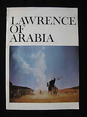 LAWRENCE OF ARABIA 1963 Orig souvenir movie programme Peter O'Toole Omar Sharif