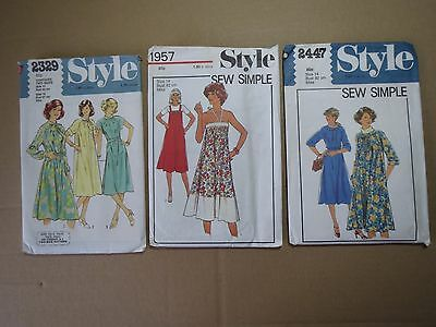 Lot of 3 VINTAGE WOMENS OUTFIT PATTERNS (1970s)