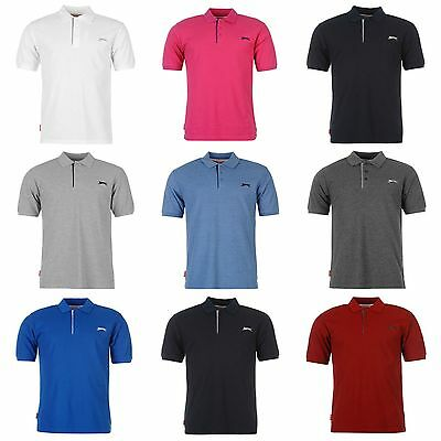 Slazenger Mens Polo shirt Gym Fitness Running Crew T Shirt S M L XL XXL 3L 4XL