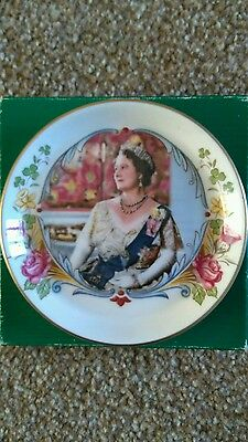 Crown Staffordshire Queen mother 80th birthday commemorative plate