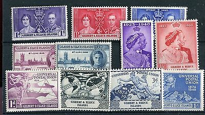 Gilbert & Ellice Islands KGVI 1937-49 Omnibus issues mounted mint