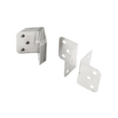 Home Stainless Steel Cupboard Cover Corner Guard Angle Bracket Protector 10pcs