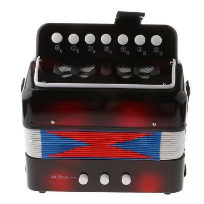 7 Buttons Toy Accordion with Handstraps Box C Key Musical Instrument Toy