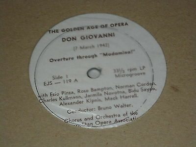 3 Vinyl LP: Mozart, Don Giovanni, Bruno Walter, Private Record