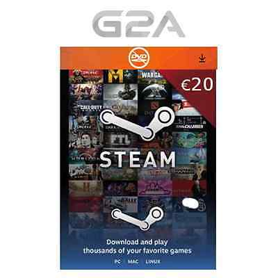 STEAM 20 EURO Carte Code Jeu [FR] Carte cadeau - €20 Steam Store EUR 20 [EU]