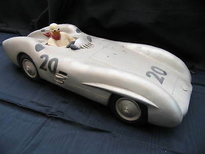 Model Vintage Classic Mercedes Racing Car And Driver.