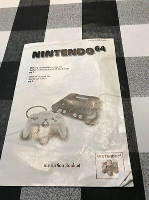 Official Nintendo 64 N64 Console Instruction Booklet Slight Creasing But Not Bad