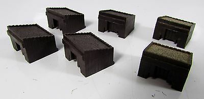N Gauge 6 x Peco Sleeper Style Buffer Stops UNBOXED L19