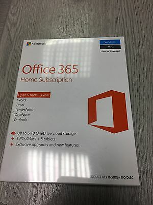 Microsoft Office 365 Home, 15 Licences (5 PCs, 5 Tablets, 5 Phones), 1 Year S...