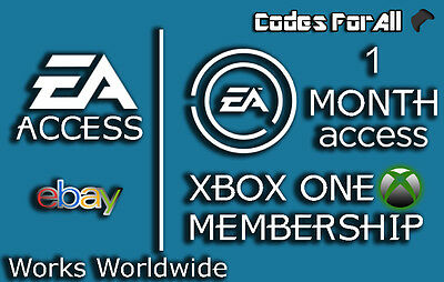 EA Access 1 Month Subscription Key for Xbox One - membership code FAST DISPATCH