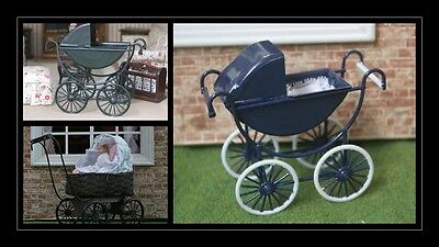 1:12 scale dolls house miniature vintage prams 3 to choose from.