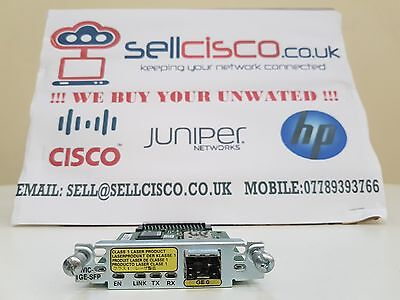 CISCO HWIC-1GE-SFP £225 + VAT (Gigabit Ethernet High-Speed WAN Interface Card)